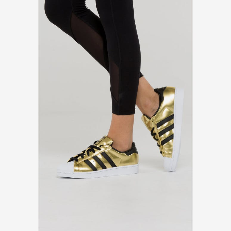 Adidas Originals Women s Superstar Gold Black White  dda8e6d2fe64