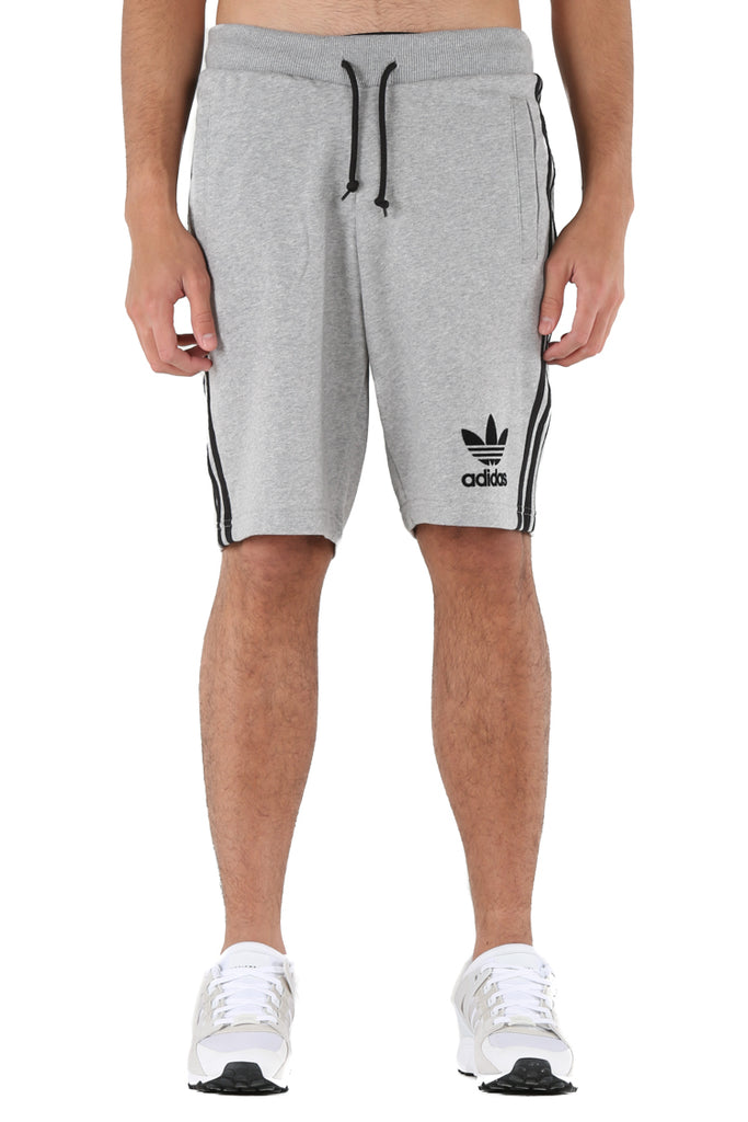 Adidas Originals 3 Stripes French Terry Shorts Grey Heather