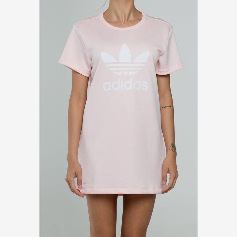Adidas Women s Trefoil Tee Dress Light Pink – Culture Kings 08cd94955