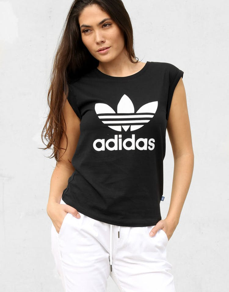 da3f4027 Adidas Originals Women's Boyfriend Trefoil Tee Black – Culture Kings
