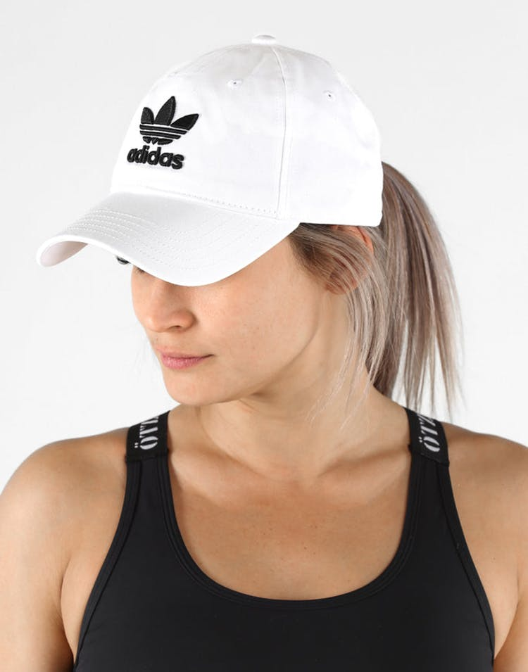 4a3ec7bfaba Adidas Originals Women s Trefoil Cap White Black – Culture Kings