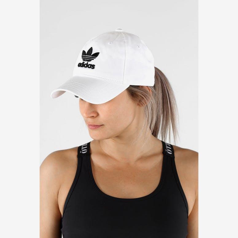Adidas Originals Women s Trefoil Cap White Black – Culture Kings 35442ae474