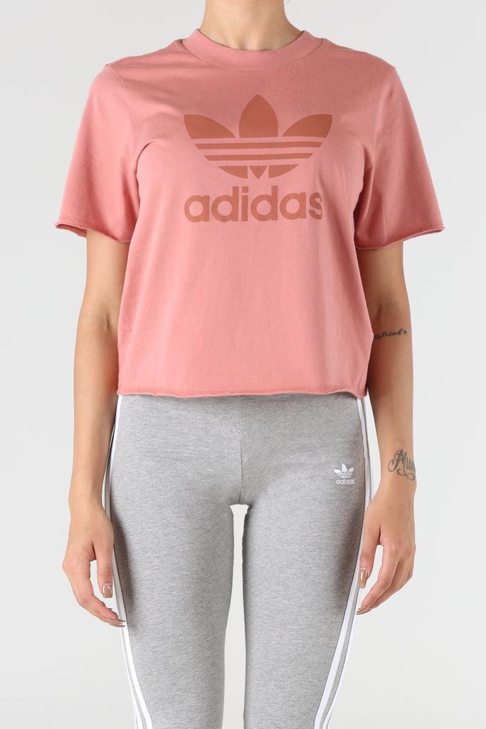 adidas rose gold trefoil tee