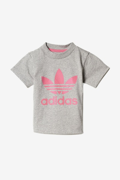 Adidas Infant Trefoil Tee Grey/Pink
