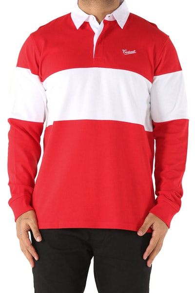 Carhartt Strike L/S Rugby Polo Red/White