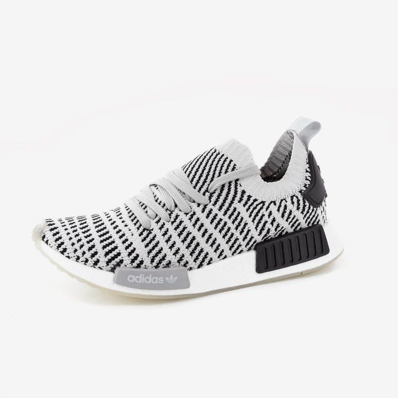 23b61fa5666578 Adidas Originals NMD R1 STLT Primeknit Grey Black White