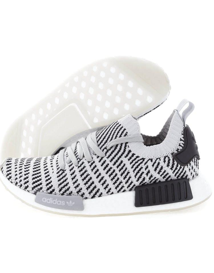 b1f7af21ab81f Adidas Originals NMD R1 STLT Primeknit Grey Black White