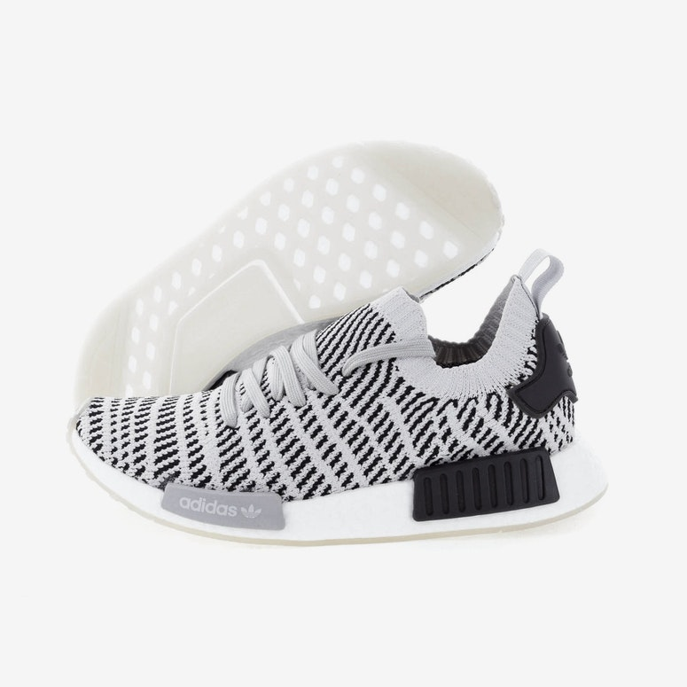 Adidas Originals Nmd R1 Stlt Primeknit Grey Black White Cq2387