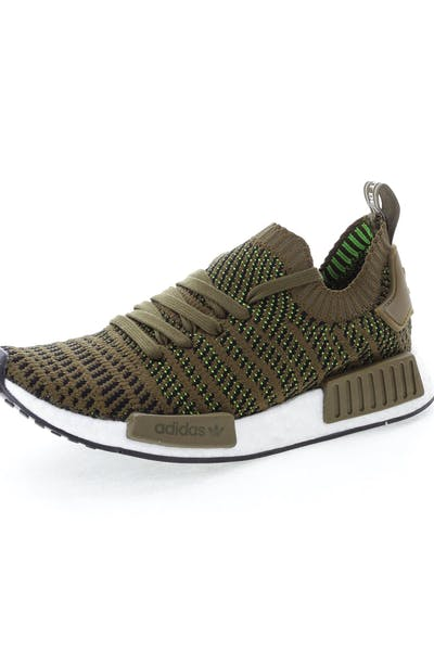 3a9ef82e6d5db Adidas Originals NMD R1 STLT Primeknit Green Black White