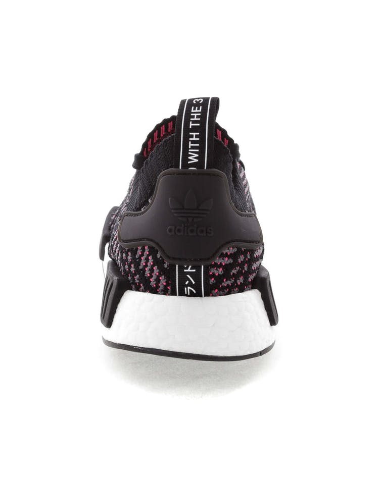 finest selection e5f20 ebc74 Adidas Originals NMD R1 STLT Primeknit Black/Multi-Coloured