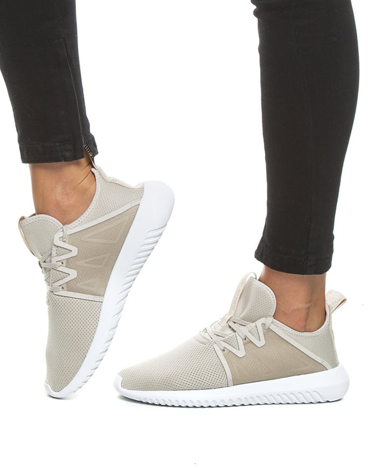 designer fashion e8f0e 4b9f8 Adidas Originals Women's Tubular Viral 2 Cream/White