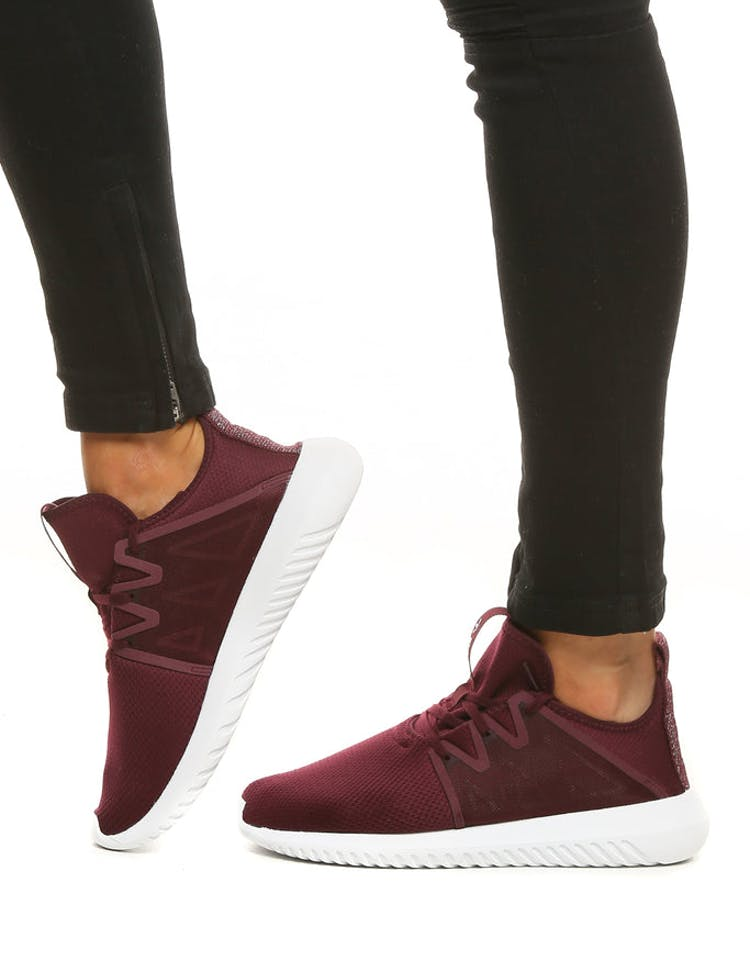 the latest af30b fe9dc Adidas Originals Women s Tubular Viral 2 Maroon White