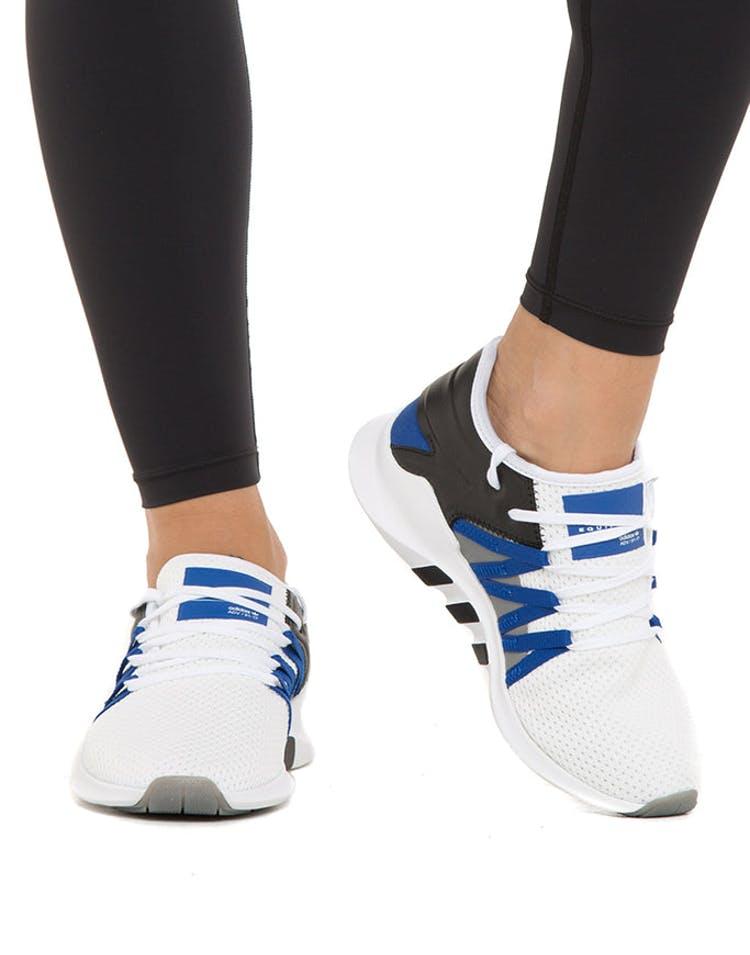 check out 8e2d2 628fc Adidas Originals Women's EQT Racing ADV White/Blue/Black