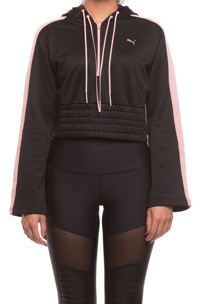 PUMA WOMENS EN POINTE SAVANNAH HOODIE BLACK