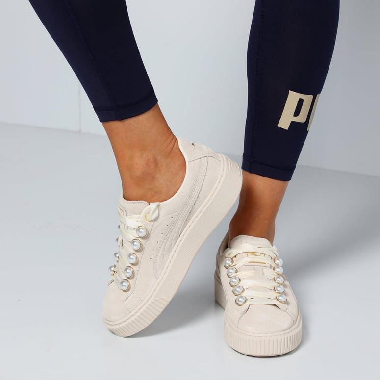 f8d78791a72e Puma Women s Suede Platform Bling White White – Culture Kings