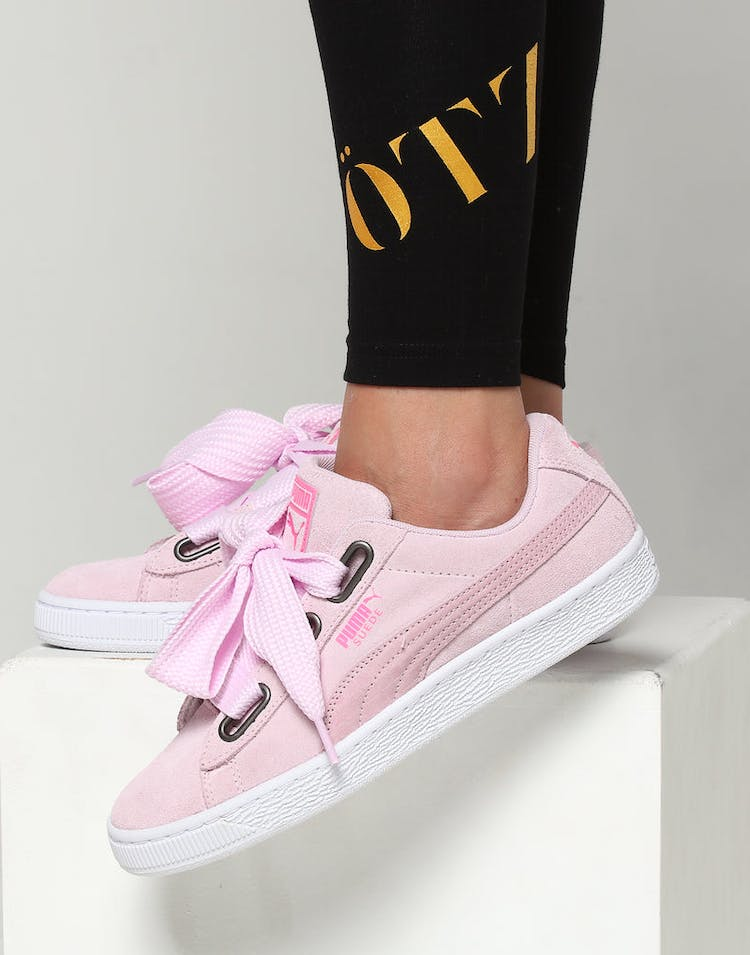 5e9aceabc0e Puma Women s Suede Heart Street 2 Pink White – Culture Kings