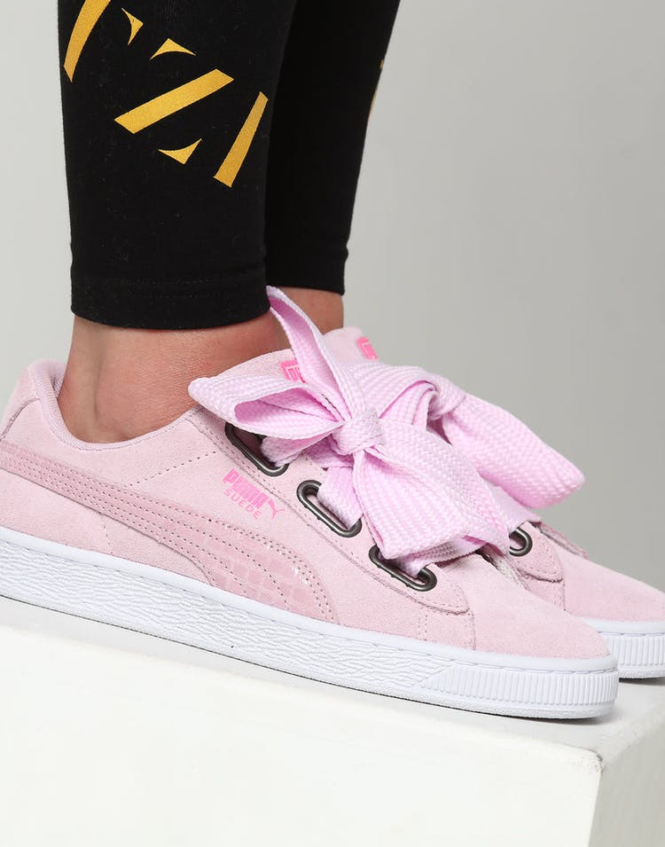new concept 701f3 7f0be Puma Women's Suede Heart Street 2 Pink/White