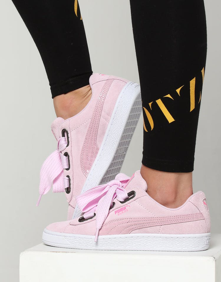 2292ea6253d Puma Women s Suede Heart Street 2 Pink White – Culture Kings