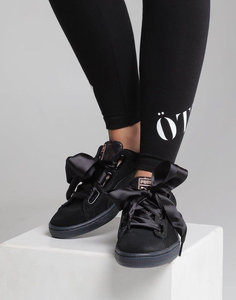 buy online c80f0 0573b Puma Women s Suede Heart Artica Black Black