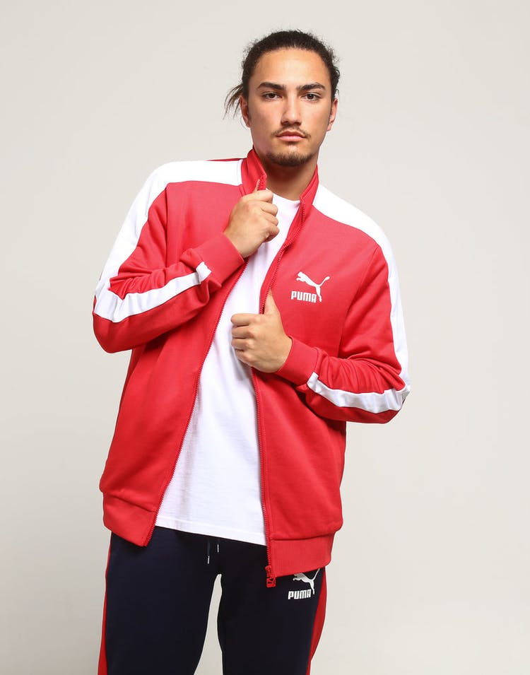 e4110eff Puma Classics T7 Track Jacket Red/White