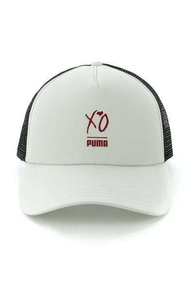 57028ead627 Puma X The Weeknd XO Trucker Cap Silver