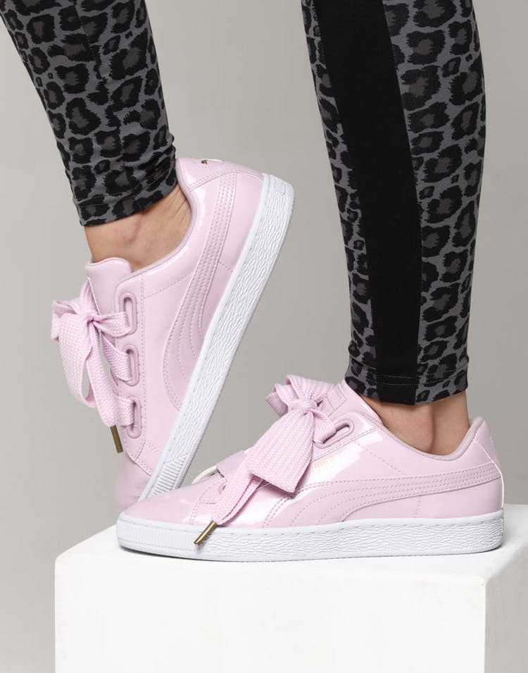 new product de91a 0f02c Puma Women's Basket Heart Patent Pink Orchid