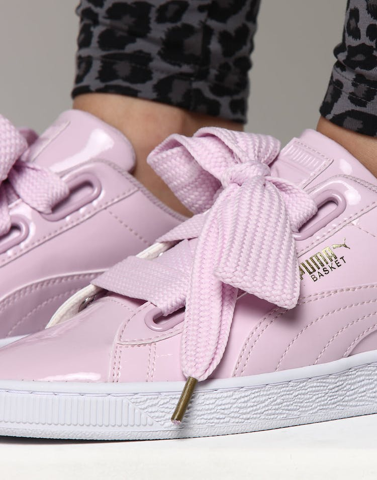new product 32250 331c3 Puma Women's Basket Heart Patent Pink Orchid
