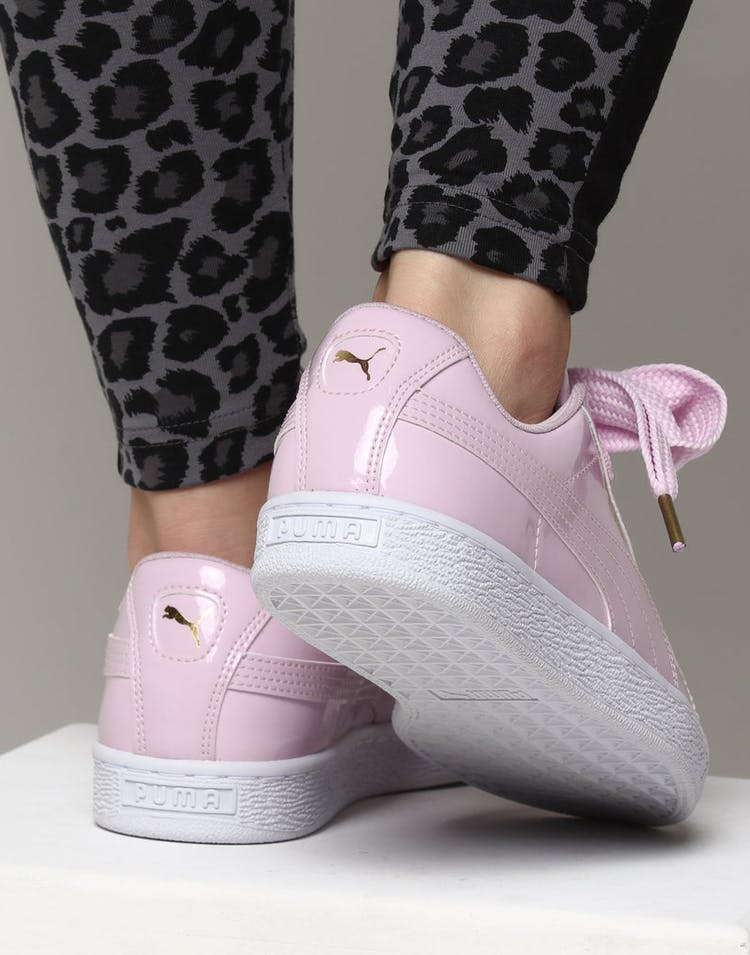 new product 3e734 e9a0d Puma Women's Basket Heart Patent Pink Orchid