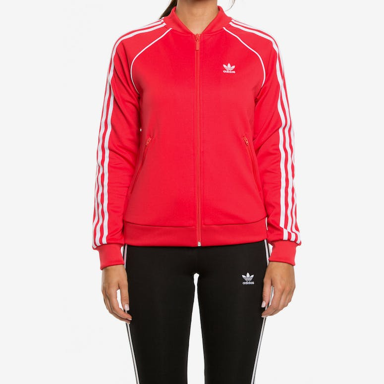 los angeles bcec1 2edff Adidas Womens SST Track Top Red – Culture Kings