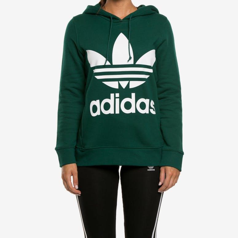 Adidas Women s Trefoil Hoodie Dark Teal – Culture Kings a3bf268d70