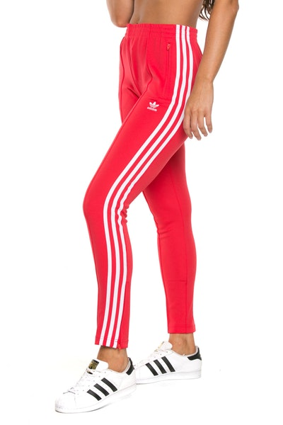 Adidas Womens SST Track Pant Red