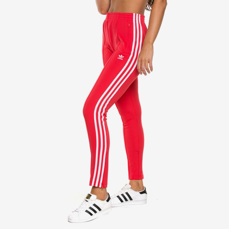 reputable site 34408 876da Adidas Womens SST Track Pant Red – Culture Kings