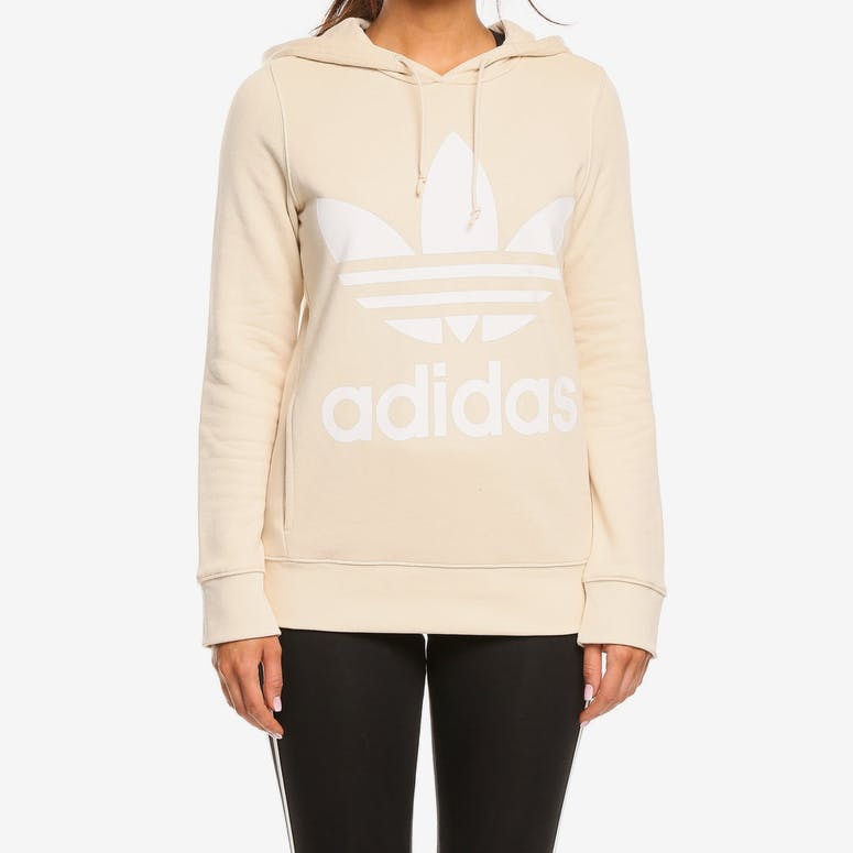 147af3b4156c Adidas Originals Women s Trefoil Hoodie Linen – Culture Kings
