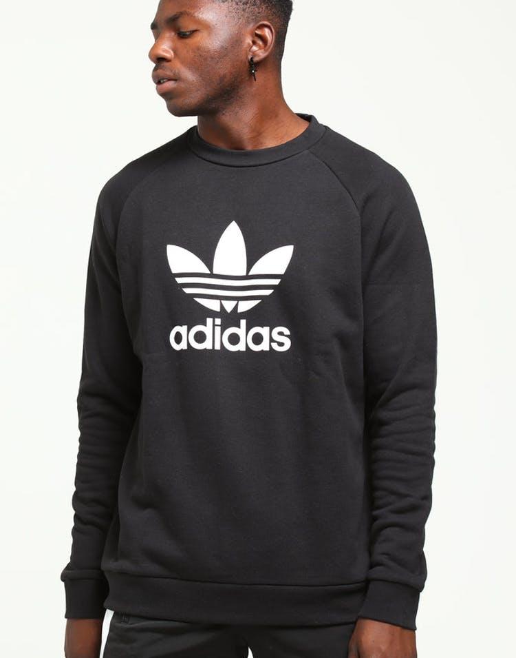 385b556994d Adidas Originals Trefoil Crew Black White – Culture Kings