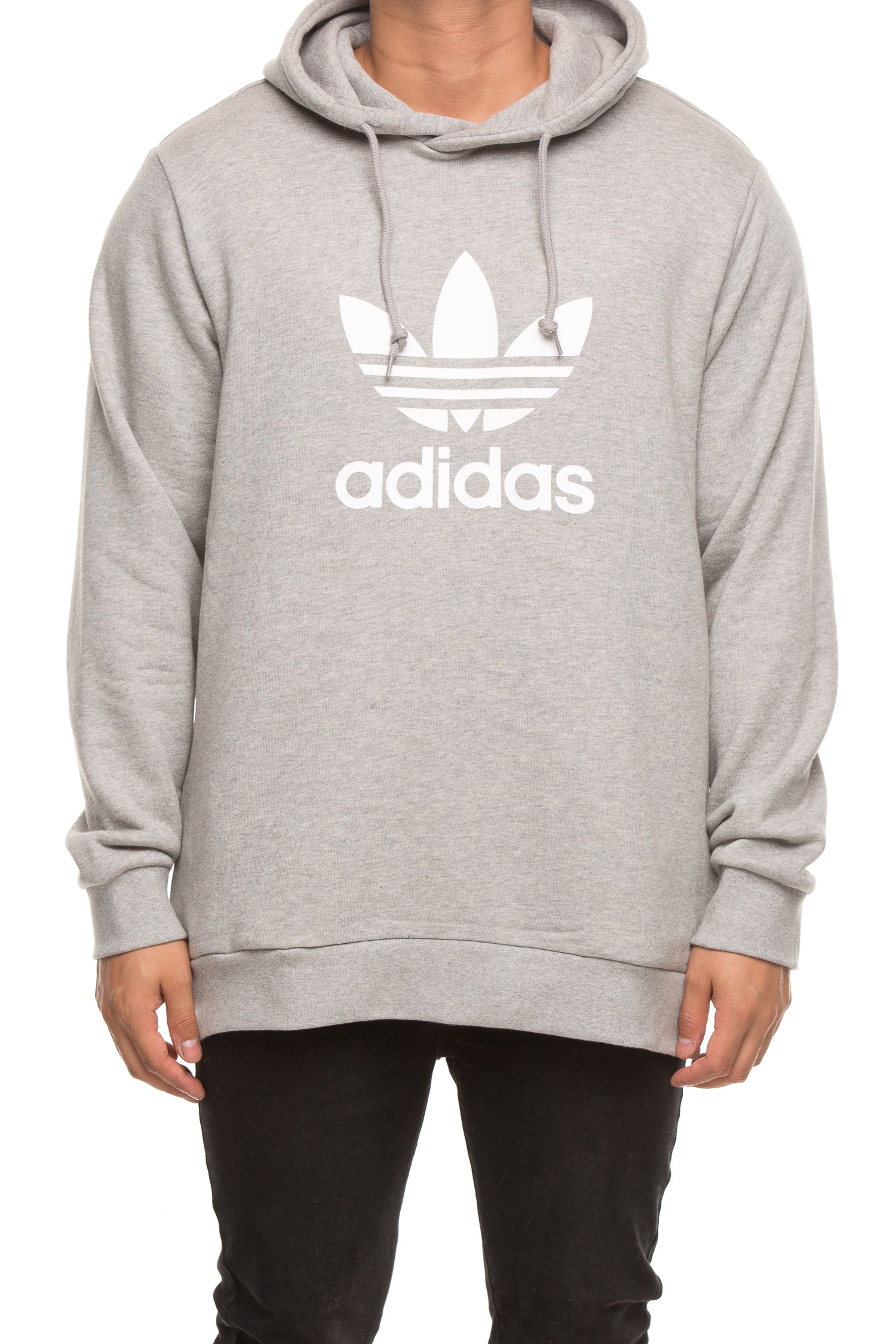 adidas Originals Womens Trefoil Hoodie Grey Heather