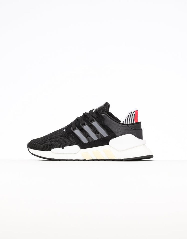 half off 4880d 8286a Adidas Women's EQT Support 91/18 Black/Grey