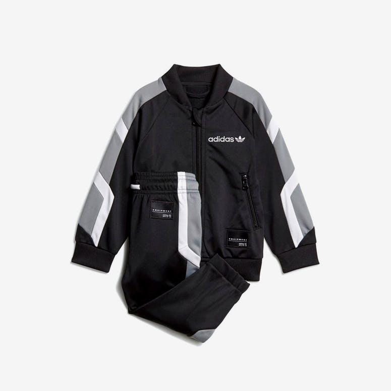 5a8fa2e35d24 Adidas Infant EQT Track Suit Black White Grey – Culture Kings