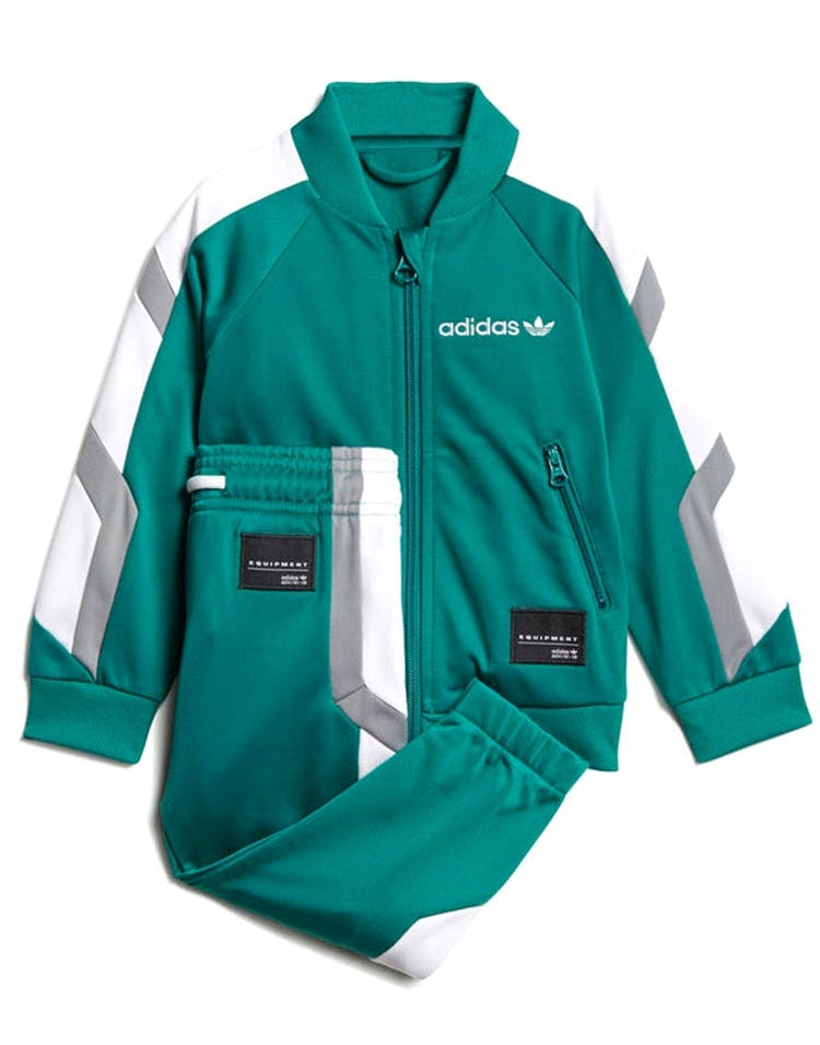 86392f82993b Adidas Infant EQT Track Suit Set Green Grey White – Culture Kings