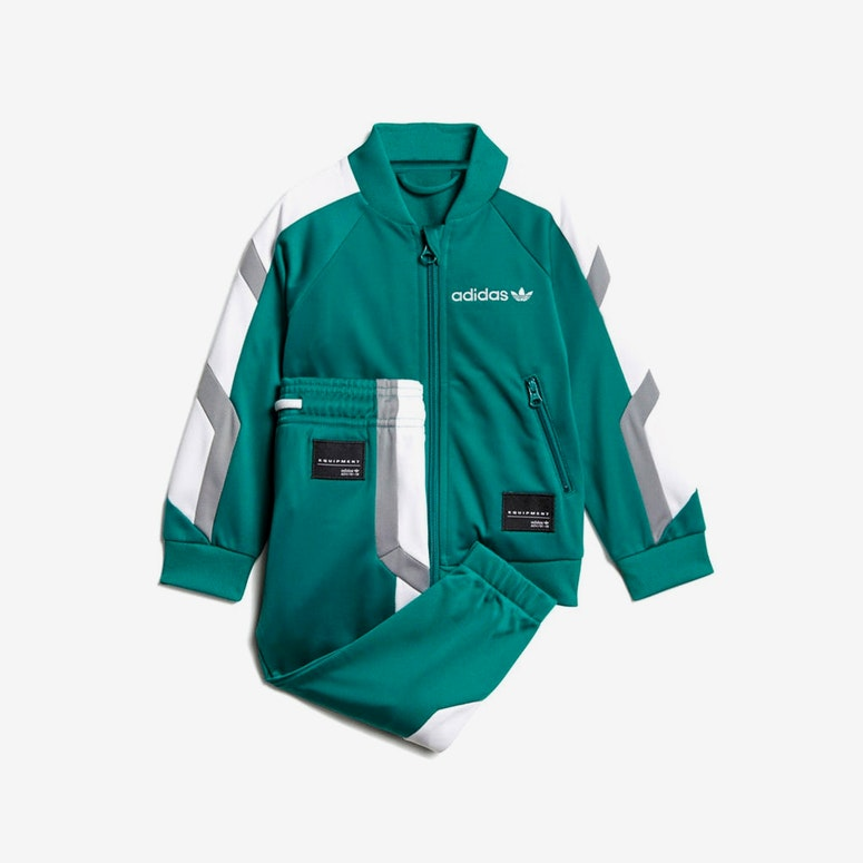 Adidas Infant EQT Track Suit Set Green/Grey/White