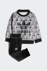 ADIDAS INFANT ZEBRA CREW TRACKSUIT SET BROWN/BLACK