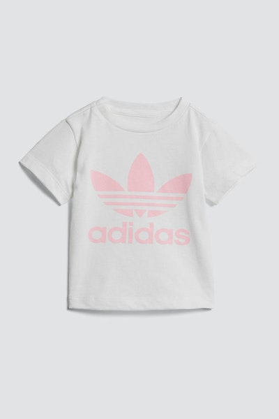 Adidas Infant Trefoil Tee White/Pink