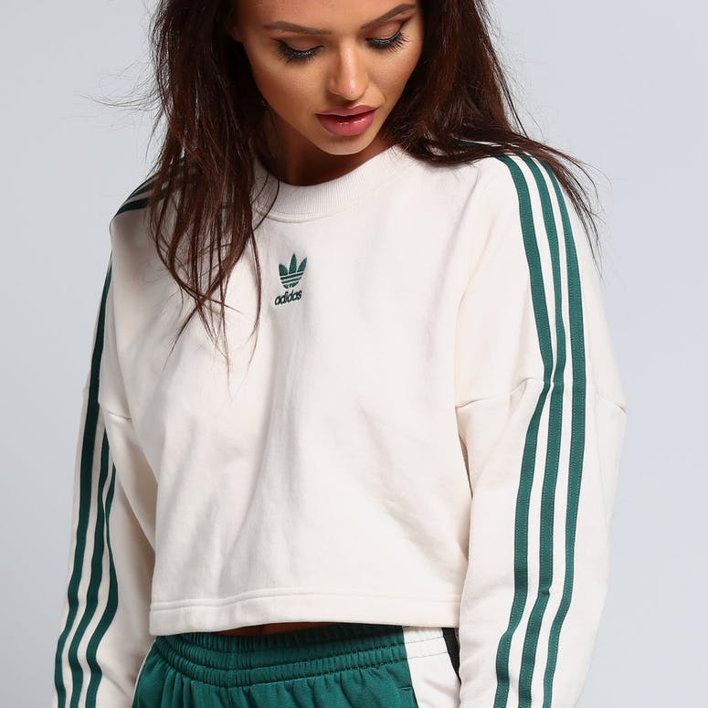Adidas Women's Cropped Sweater White