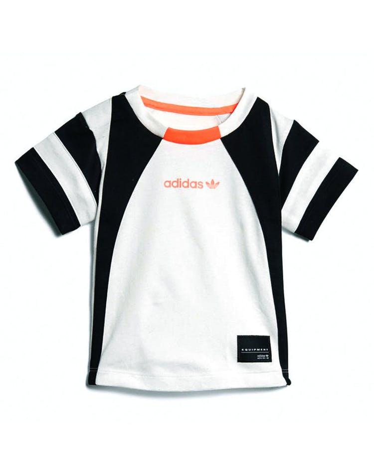 huge discount f41ce a6da3 Adidas Infant EQT Tee White/Black