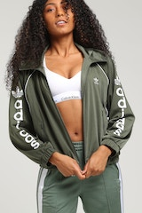 ADIDAS WOMEN'S TRACK TOP GREEN