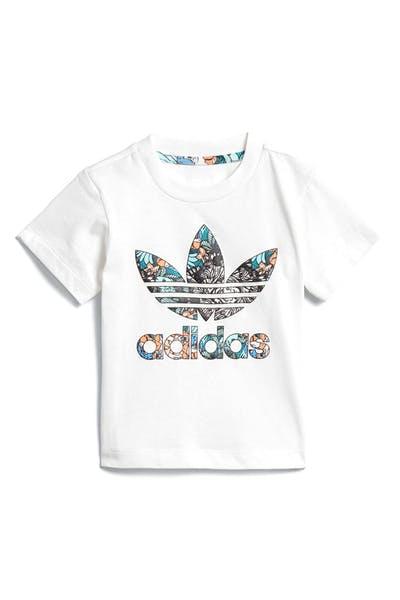 cheap for discount a3746 2e347 Adidas Infant Zoo Tee White Multi-Coloured