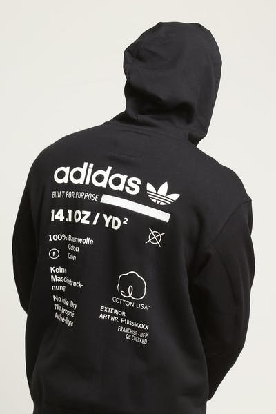 b1bc596f52e3 Adidas Kaval Full Zip Hoody Black