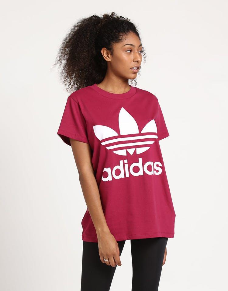 8bd7806943f Adidas Women's Big Trefoil Tee Rhubarb – Culture Kings