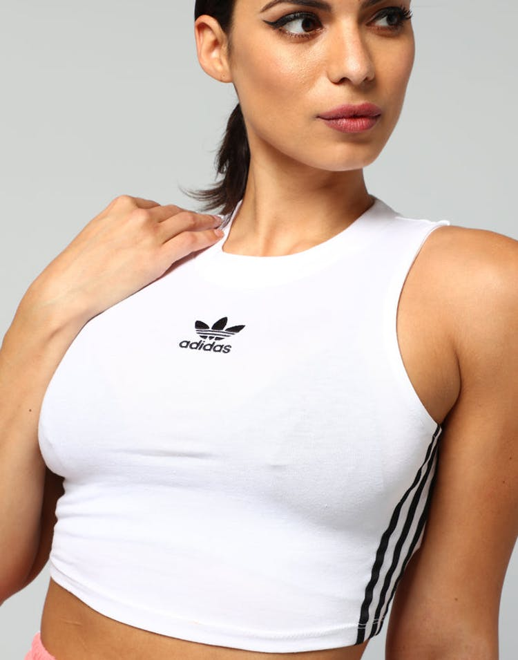 da99acb891b37 Adidas Women s Crop Tank White Black – Culture Kings