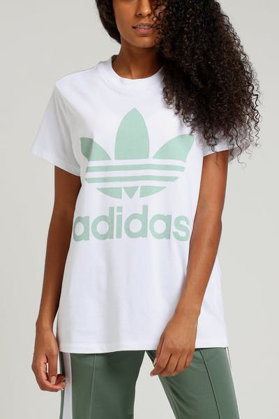 Adidas Women's Big Trefoil Tee White/Mint