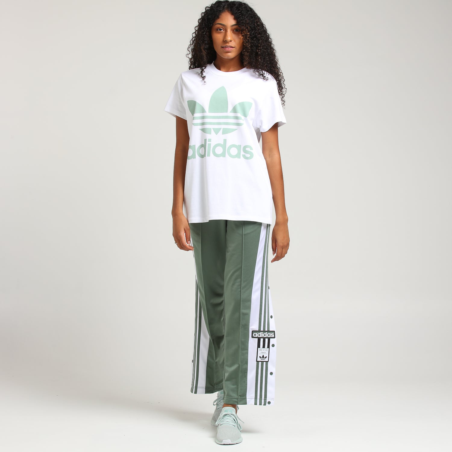 Adidas Women's Big Trefoil Tee WhiteMint